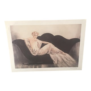 Watermarked Louis Icart Lithograph & Book - A Pair