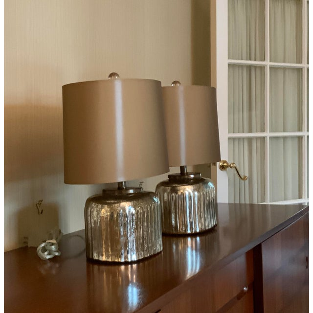 Transitional 1990s Arteriors Lamps - a Pair For Sale - Image 3 of 7