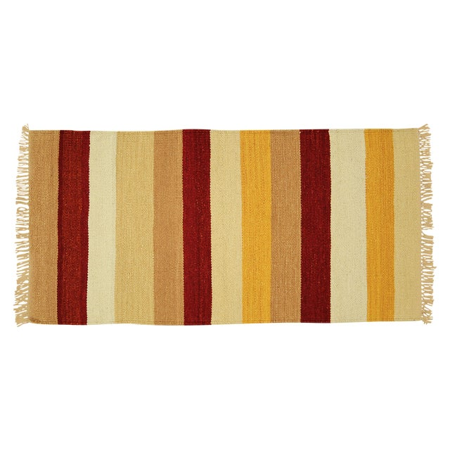 "Vegetable Dyed Navajo Style Kilim Rug - 2' x 4'3"" - Image 1 of 5"