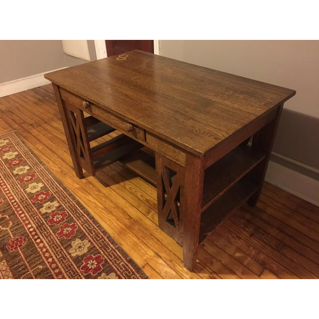 Arts & Crafts Arts & Crafts Wooden Writing Desk For Sale - Image 3 of 4