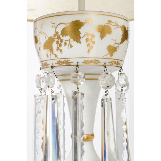 White Glass Double Cluster Table Lamp For Sale - Image 10 of 11