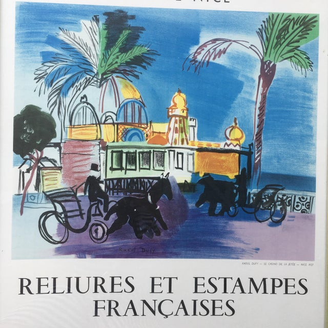 Blue Vintage 1950s French Exhibition Poster by Raoul Dufy For Sale - Image 8 of 10