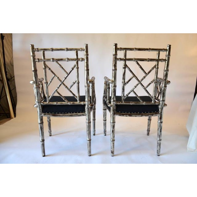 Asian 1990s Vintage Bamboo Armchairs - A Pair For Sale - Image 3 of 8