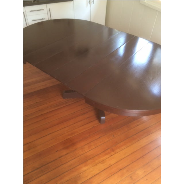 Large Pedestal Dining Table & Four Leaves - Image 5 of 8