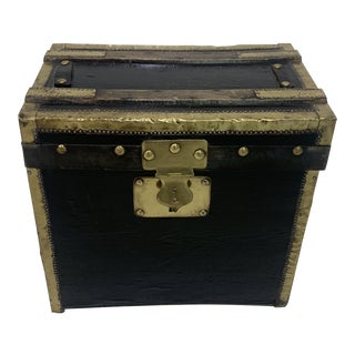 Late 19th Century Brass Steamer Trunk For Sale