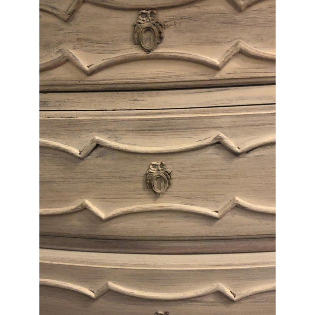 Early 20th Century Swedish Marble-Top Four-Drawer Chest or Commode or Nightstand Louis XV Style For Sale - Image 5 of 13