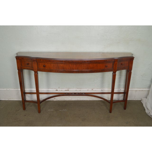 Wood Regency Style 1930s Inlaid Satin Wood Console Sideboard For Sale - Image 7 of 13