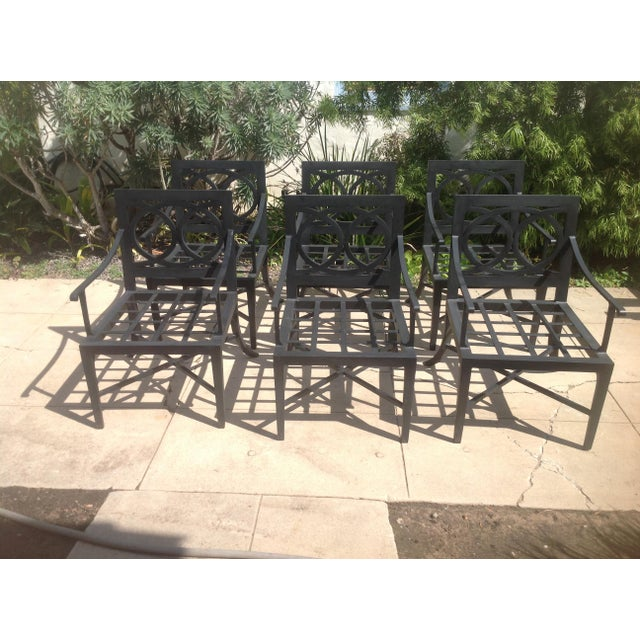 Modern Set Of Patio Dining Chairs 6 Pieces Chairish