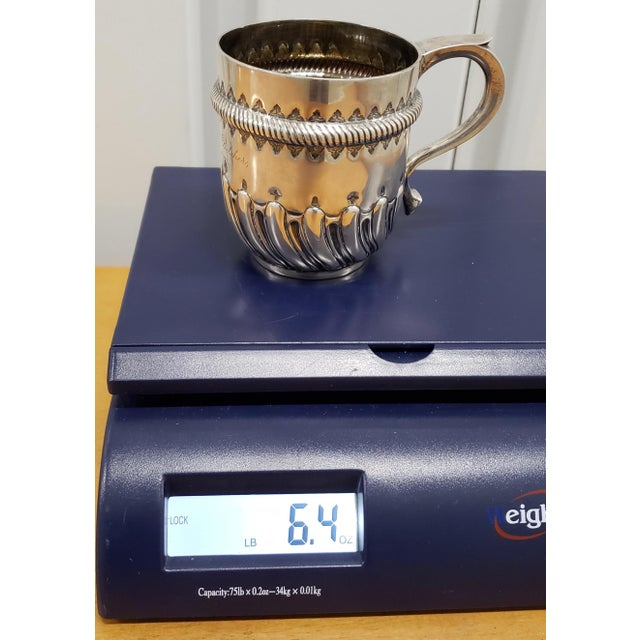 Late 19th Century Hand Tooled Sterling Silver Christening Cup C.1897 For Sale - Image 11 of 12