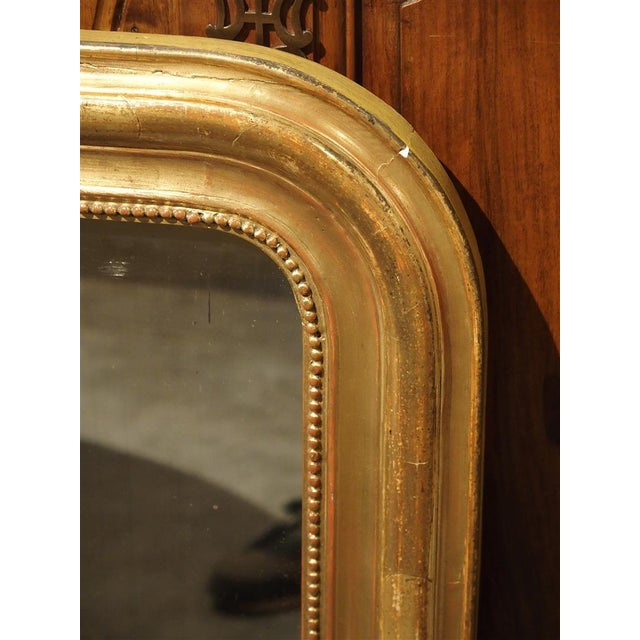 French 19th Century French Louis Philippe Giltwood Mirror For Sale - Image 3 of 11
