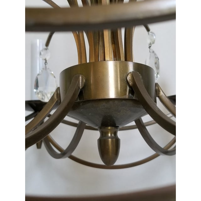 Mid-Century Modern Crystal Swedish Chandelier For Sale In New York - Image 6 of 13