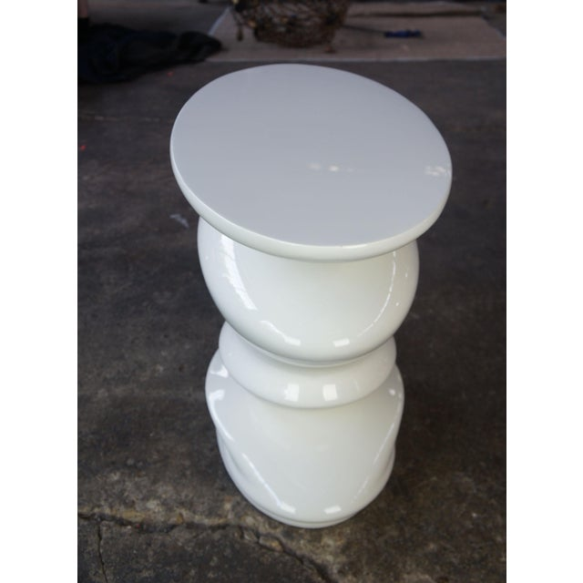 Contemporary Contemporary Roche Bobie Cédric Ragot Sismic White End Table For Sale - Image 3 of 8