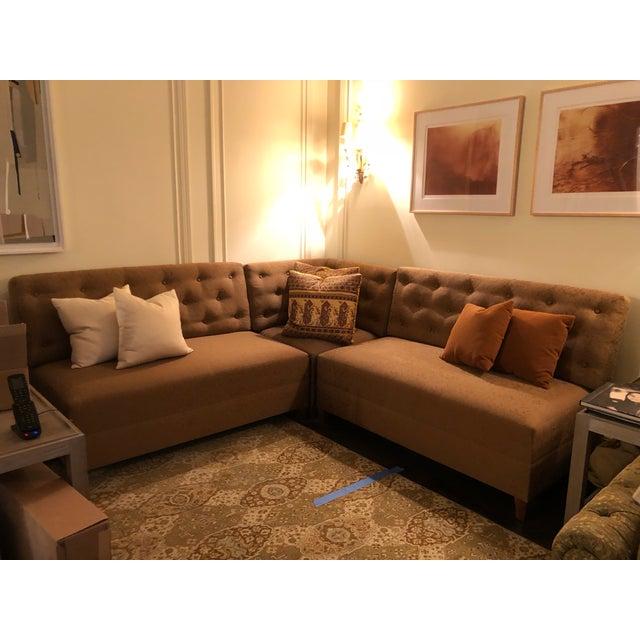 Custom Corner Sofa Sectional For Sale - Image 4 of 10