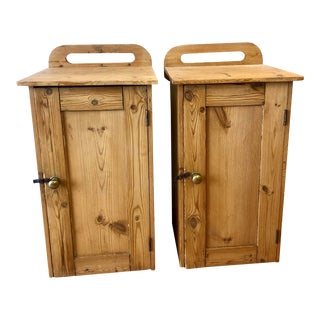 Antique English Pine Pot Cupboards - a Pair For Sale