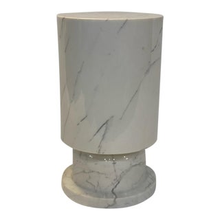 Contemporary White Marble Pillar For Sale