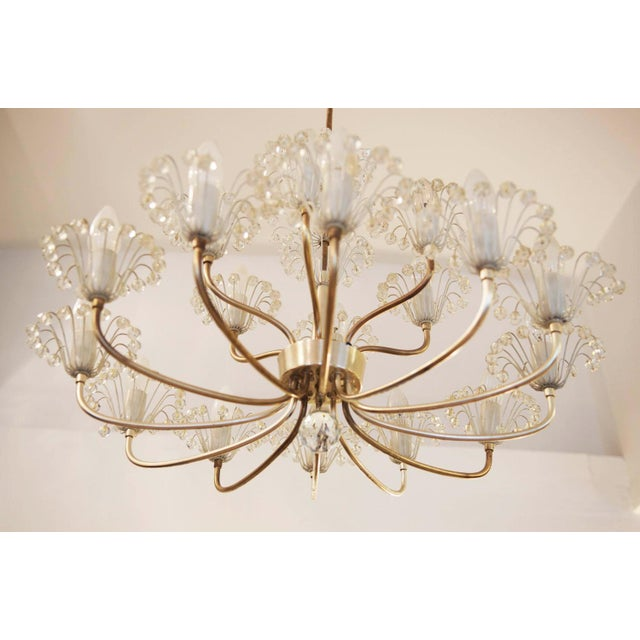 Large Mid Century Chandelier by Emil Stejnar for Rupert Nikoll For Sale - Image 6 of 9
