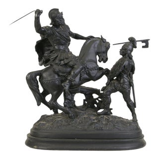 19th Century Cast Vic. Spelter Warrior Figures For Sale