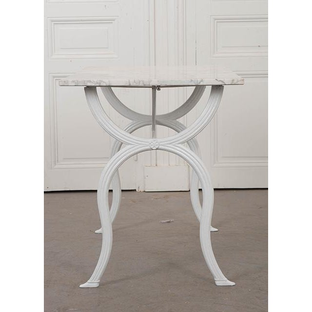 French 19th Century White Marble-Top Bistro Table For Sale - Image 10 of 13