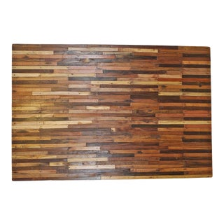 Salvaged Wood Brick Pattern Panel For Sale