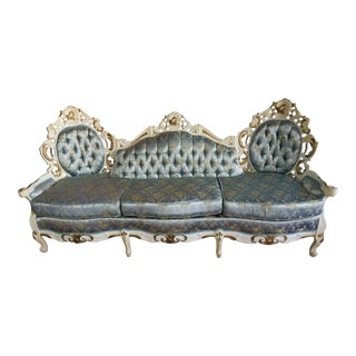 Vintage French Provincial Baroque Sofa For Sale