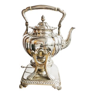 19th Century Victorian Era Tiffany & Co Silver Tilting Teapot For Sale
