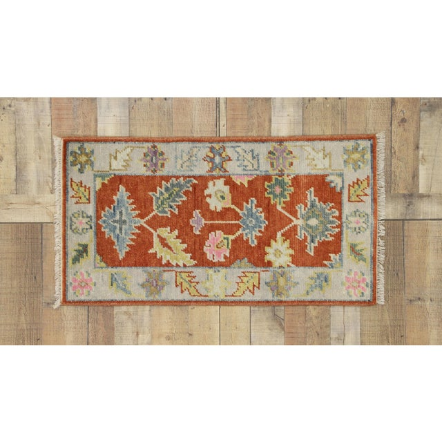 Early 21st Century Oushak Accent Rug- 2' X 3'10 For Sale In Dallas - Image 6 of 8