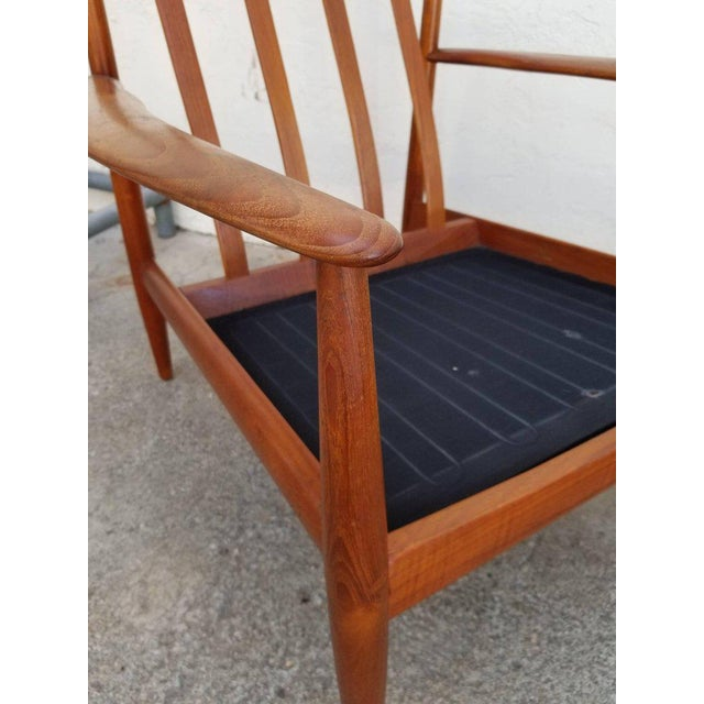 Grete Jalk for France & Daverkosen Teak Lounge Chairs - A Pair For Sale - Image 12 of 13