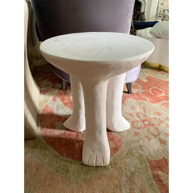 Plaster John Dickinson Style Africa Side Table For Sale - Image 7 of 8