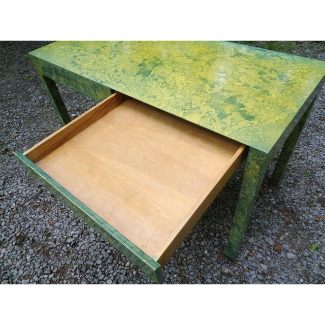 C.1967 Designer Raindrop Finish Vanity Desk Console Table For Sale - Image 10 of 13
