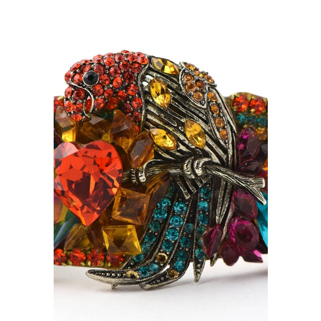 Wendy Gell Parrot Cuff Bracelet For Sale - Image 4 of 9