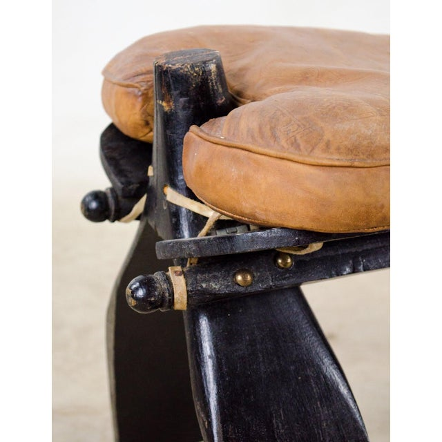 Vintage Egyptian Camel Saddle Stool For Sale In Atlanta - Image 6 of 13