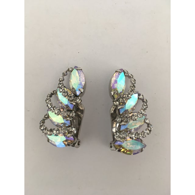 Vintage Weiss Rhinestone Clips - a Pair For Sale - Image 9 of 11