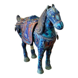 Chinese Cloisonné Incense Burner Horse For Sale