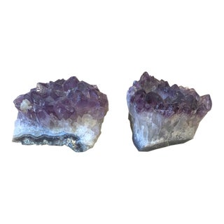 Vintage Amethyst Crystal Votive Candle Holders - a Pair For Sale