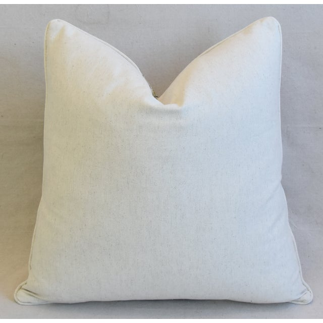 "Cottage Country Cotton & Linen Wildflower Feather/Down Pillow 24"" Square For Sale - Image 4 of 6"