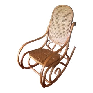 Authentic Thonet Bentwood Rocker - Blonde Wood For Sale