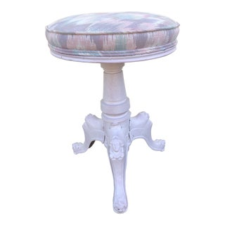 Early 20th Century Antique Painted Iron Swivel Stool For Sale