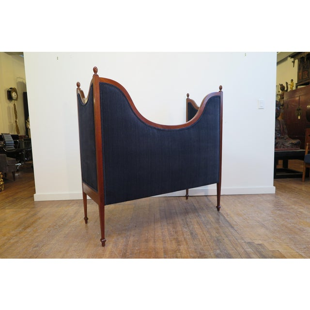 Wood Antique Sheraton Style Settee For Sale - Image 7 of 13