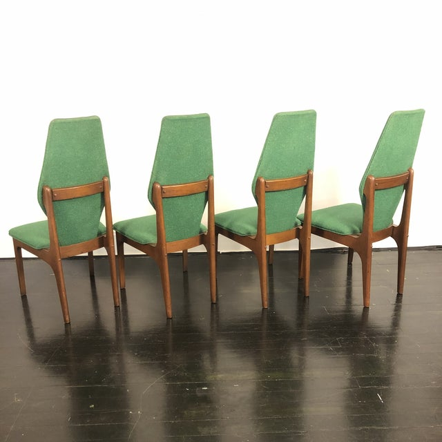 Mid-Century Modern Sculptural High Back Dining Chairs- Set of 4 For Sale - Image 3 of 10