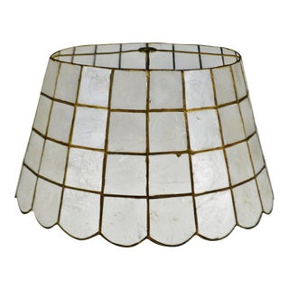 Mid 20th Century Vintage Capiz Shell Lampshade For Sale