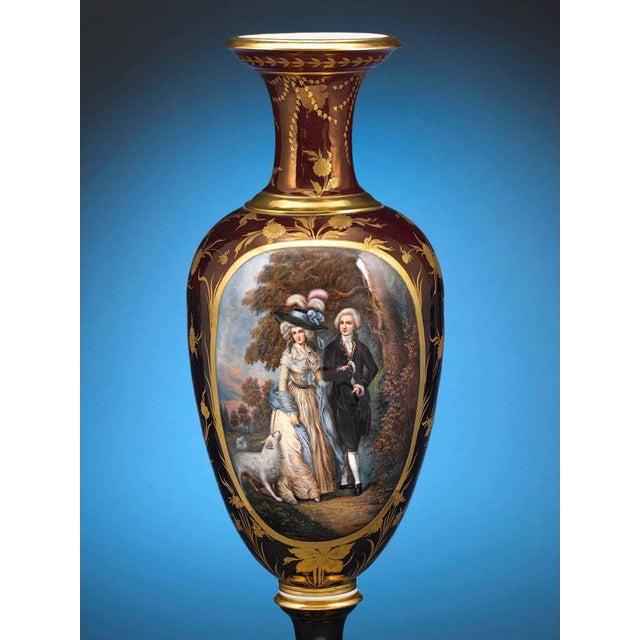 Art Nouveau Royal Vienna Porcelain Vase For Sale - Image 3 of 6