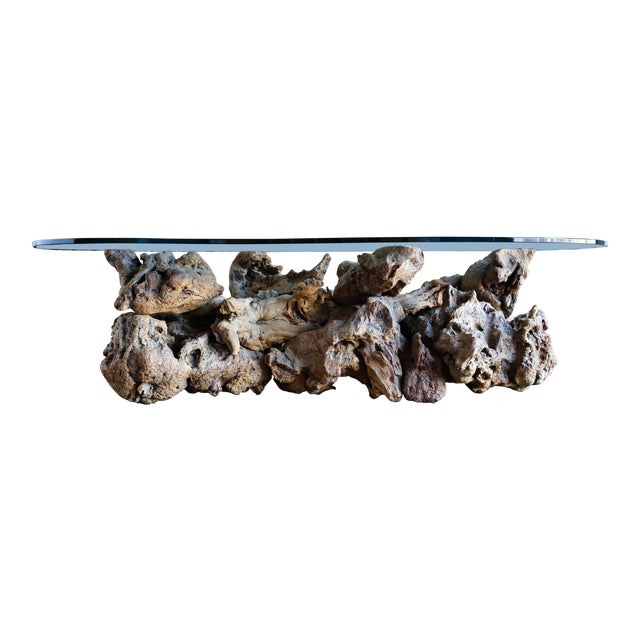 1960s Sculptural Driftwood Coffee Table For Sale