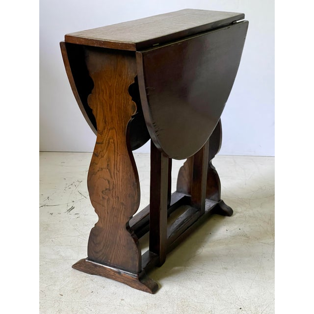 English Dropleaf Trestle Table For Sale - Image 9 of 12
