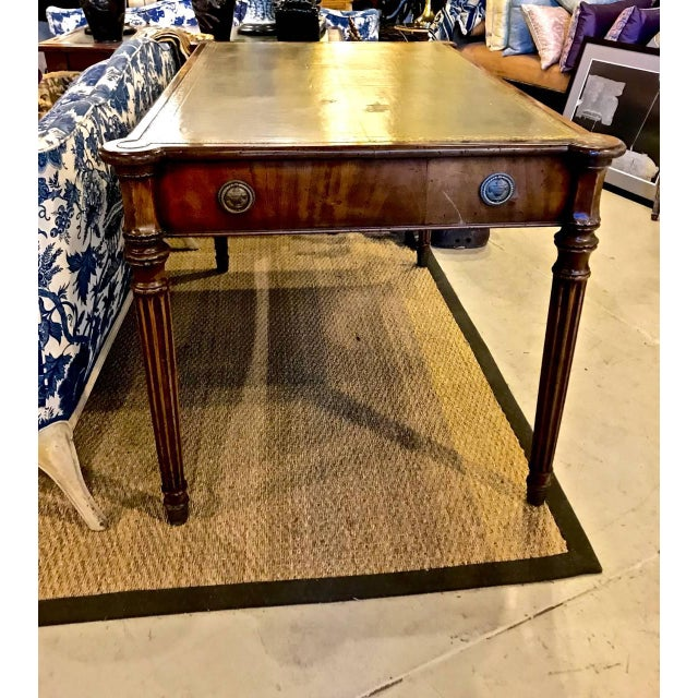 Early 19th Century 1810s Regency Mahogany Writing Table For Sale - Image 5 of 13