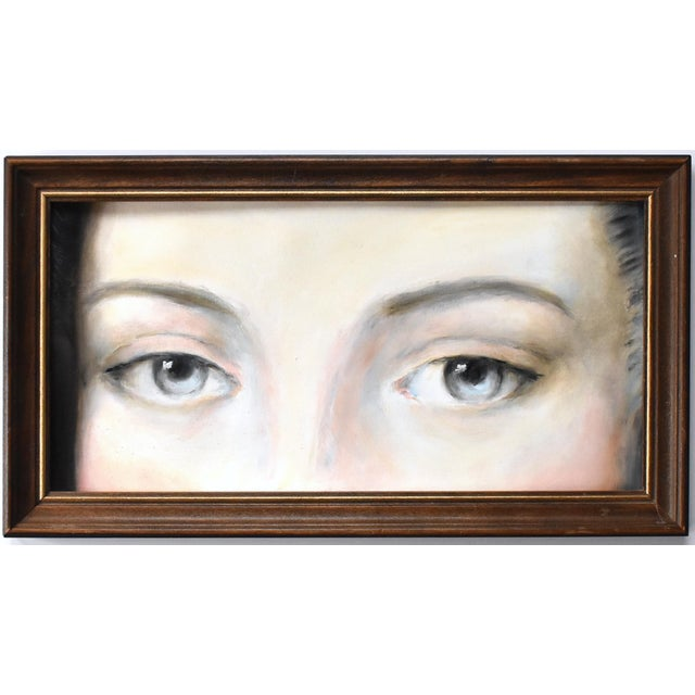 Contemporary Antique Lover's Eyes Painting by Susannah Carson For Sale - Image 3 of 3