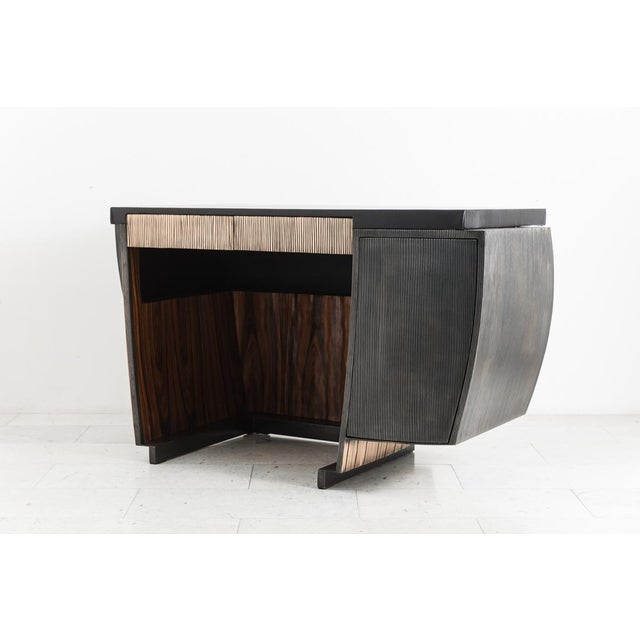 2010s Blackened Steel and Layered Bronze Desk, Usa, 2019 For Sale - Image 5 of 13