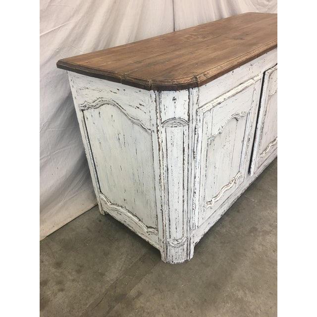 White 18th C French Provencal Three Door Painted Enfilade Sideboard For Sale - Image 8 of 13