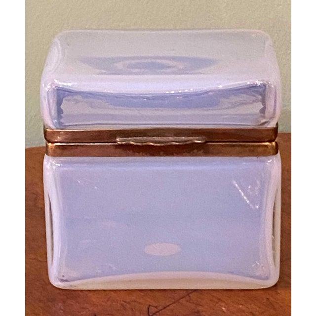 """Murano Clear White Box 4.25"""" Wide x 3.25"""" Deep x 4' High"""
