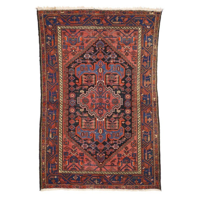 Antique Persian Hamadan Rug with Modern Tribal Style For Sale In Dallas - Image 6 of 8