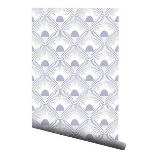 Lavender Gray Sunset Pre-Pasted Wallpaper